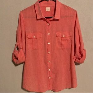 Women's J Crew Blouse in Pink, L